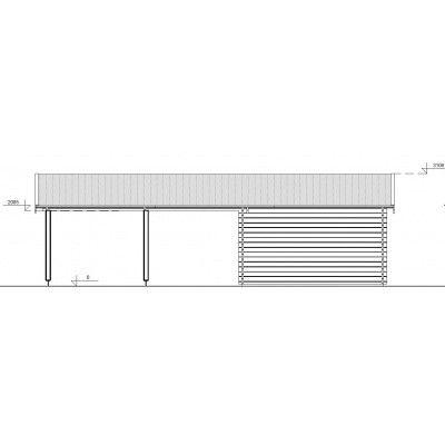 Bild 11 von Graed Double Garage + Carport 950x595 cm, 44 mm