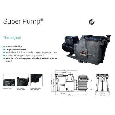 Afbeelding 6 van Hayward Super Pump 7,5 m3/u mono SP1606XW81