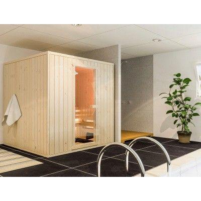 Afbeelding 2 van Azalp massieve sauna Rio Standaard 152x130 cm, 39 mm