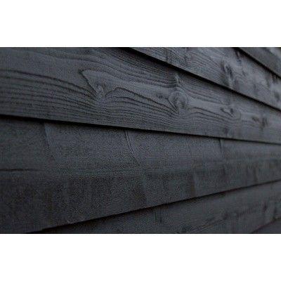 Hoofdafbeelding van WoodAcademy Zijwand Vuren 400 cm Zwart (135425)*