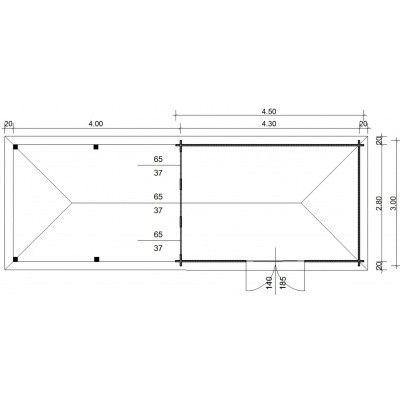 Bild 23 von Azalp Blockhaus Cas 840x300 cm, 30 mm