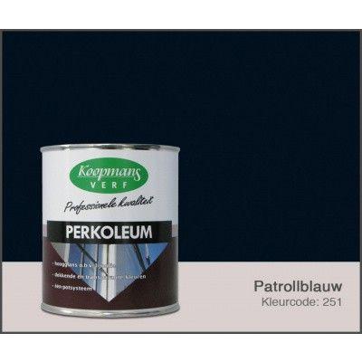 Hoofdafbeelding van Koopmans Perkoleum, Petrolblauw 251, 2,5L Hoogglans (O) ACTIE