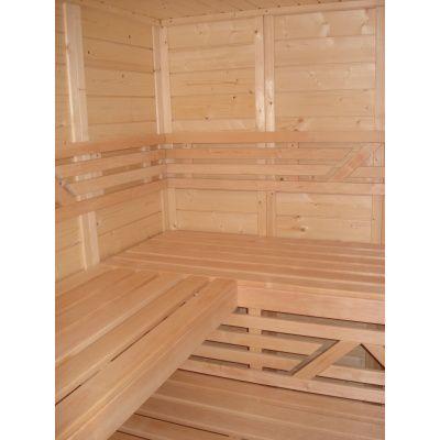 Afbeelding 30 van Azalp Massieve sauna Genio 166x166 cm, 45 mm