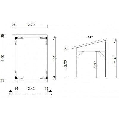 Bild 2 von Azalp Holzgerüst Überdachung Madine (F32500)