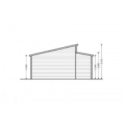 Afbeelding 8 van Graed Modern Garage 600x800 cm, 44 mm