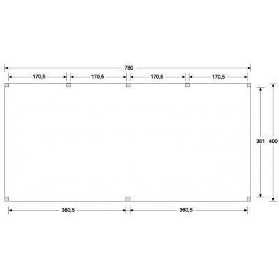 Afbeelding 3 van WoodAcademy Topaas Excellent Douglas Carport 780x400 cm