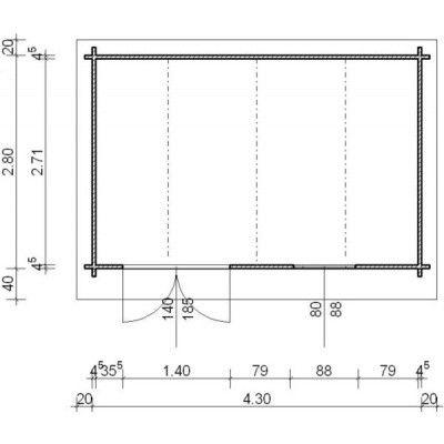 Bild 25 von Azalp Blockhaus Cornwall 450x300 cm, 45 mm