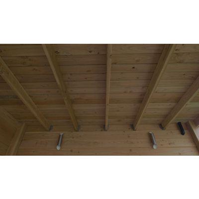 Afbeelding 5 van WoodAcademy Graniet excellent Douglas blokhut 400x400 cm