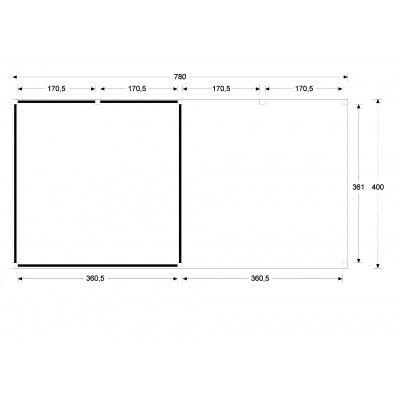 Afbeelding 5 van WoodAcademy Sapphire excellent Nero blokhut 780x400 cm
