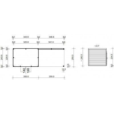 Afbeelding 18 van SmartShed Blokhut Ligne Ultra 700x250 cm