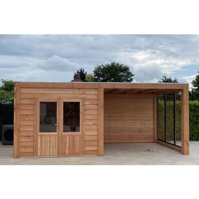 Afbeelding 3 van WoodAcademy Sapphire excellent Douglas blokhut 580x400 cm
