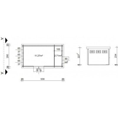Bild 18 von Azalp Blockhaus Lars 550x300 cm, 45 mm