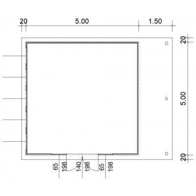 Bild 3 von SmartShed Blockhaus Isidro 500x500 cm, 30 mm