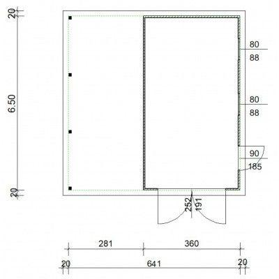 Afbeelding 4 van Azalp Garage Cidro 641x650 cm, 45 mm
