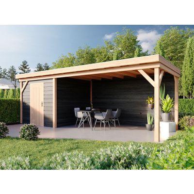 Hauptbild von WoodAcademy Bristol Nero Gartenhaus 680x300 cm