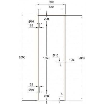 Afbeelding 7 van Ilogreen Saunadeur Trend (Elzen) 209x69 cm, melkglas
