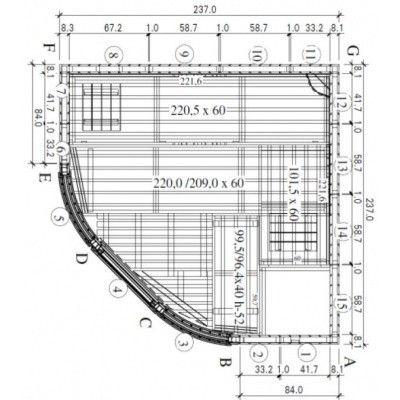 Afbeelding 12 van Azalp Sauna Runda 237x237 cm espen