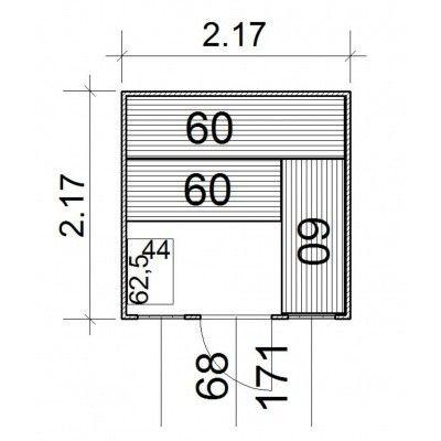 Afbeelding 3 van Azalp Massieve sauna Rio Optic 217x217 cm, 39 mm