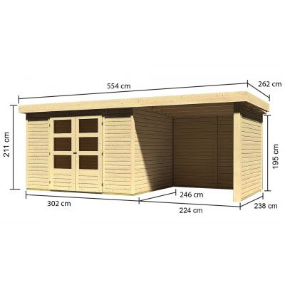 Afbeelding 3 van Woodfeeling Askola 5 met veranda (77735)