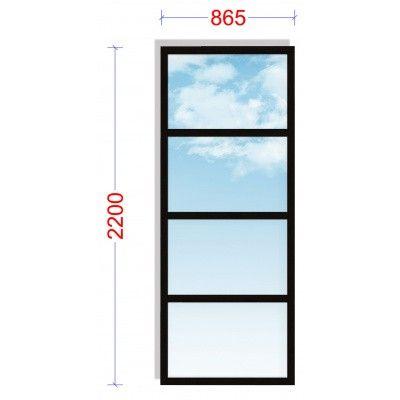 Afbeelding 2 van WoodAcademy Zijwand 86,5x220 cm Glas met roede