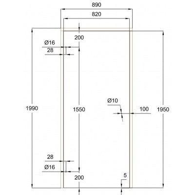Afbeelding 7 van Ilogreen Saunadeur Trend (Elzen) 199x89 cm, melkglas