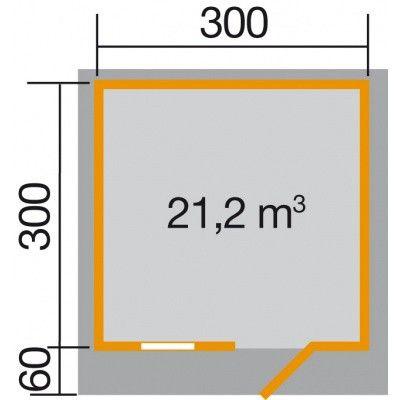 Bild 2 von Weka Gartenhaus 131 Gr. 3 mit Vordach 60cm