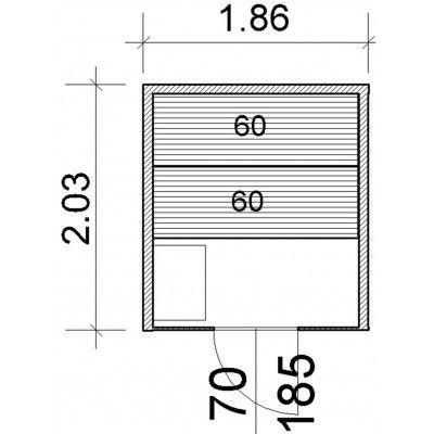 Afbeelding 64 van Azalp Lumen elementsauna 186x203 cm, elzen