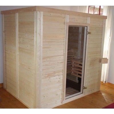 Afbeelding 45 van Azalp Massieve sauna Genio 180x180 cm, 45 mm
