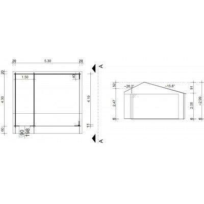 Afbeelding 42 van Azalp Kapschuur Ghita 550x450 cm, 45 mm