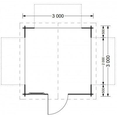 Afbeelding 5 van Graed Kiosk 300x300 cm, 28 mm