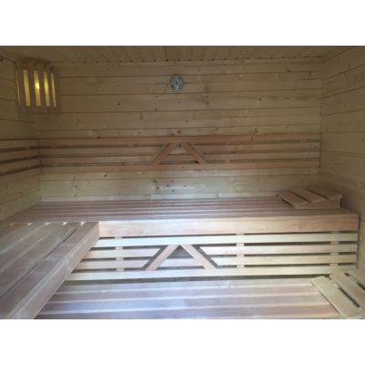 Afbeelding 18 van Azalp Saunabank recht, Elzen breedte 70 cm