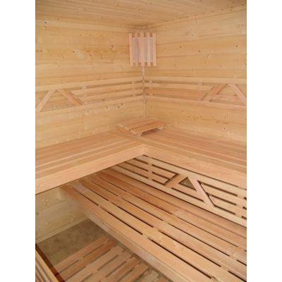 Afbeelding 11 van Azalp Saunabank recht, Elzen breedte 40 cm