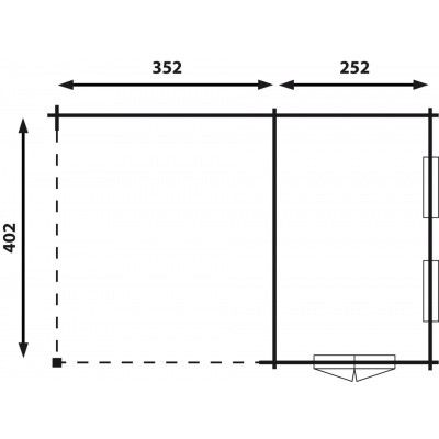 Afbeelding 2 van Interflex Wolfskap W4x2,5+3,5, geverfd