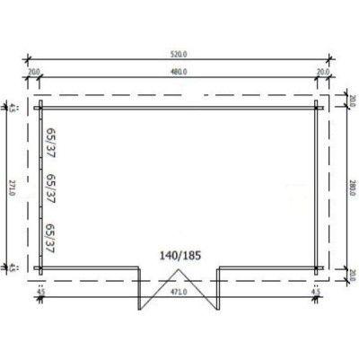 Bild 97 von Azalp Blockhaus Ingmar 500x300 cm, 45 mm