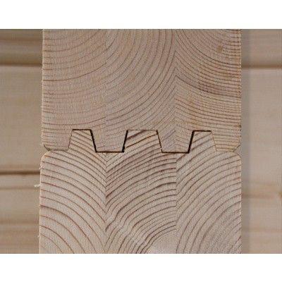 Afbeelding 104 van Azalp Buitensauna Nauttia (Timo) 210x210 cm, 95 mm