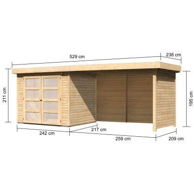 Afbeelding 2 van Woodfeeling Leuven 3 met veranda 280 cm