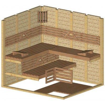 Afbeelding 44 van Azalp Massieve sauna Genio 190x220 cm, 45 mm