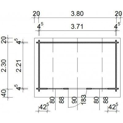 Bild 28 von Azalp Blockhaus Yorkshire 400x250 cm, 45 mm