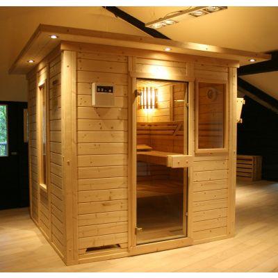Afbeelding 24 van Azalp Massieve sauna Genio 150x150 cm, 45 mm