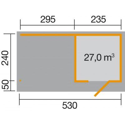 Afbeelding 2 van Weka Designhuis 172 B Gr.1, 530x240 cm antraciet
