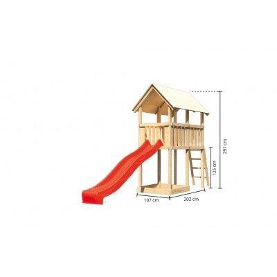 Afbeelding 2 van Akubi Speeltoren Danny met glijbaan (89354)