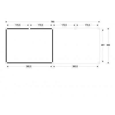 Afbeelding 3 van WoodAcademy Earl Douglas Overkapping 780x300 cm