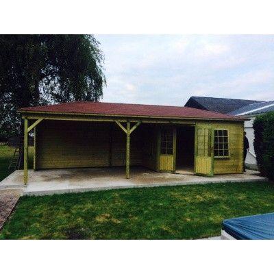 Bild 17 von Interflex Blockhaus 3055 Z, Seitendach 500 cm