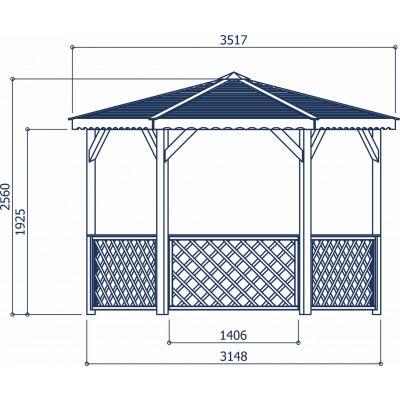 Afbeelding 3 van Solid Paviljoen S7707
