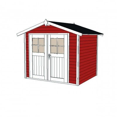 Afbeelding 3 van Weka Tuinhuis 122 Gr. 2 Zweeds rood