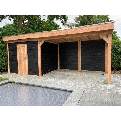 Bild 6 von WoodAcademy Bristol Nero Gartenhaus 580x300 cm