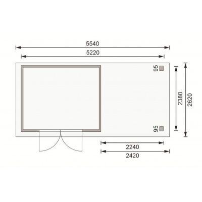 Afbeelding 2 van Woodfeeling Askola 5 met veranda (77735)