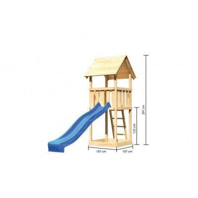 Afbeelding 2 van Akubi Speeltoren Lotti met glijbaan (89341)