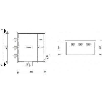 Bild 19 von Azalp Blockhaus Lars 450x500 cm, 45 mm