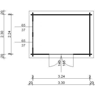Bild 97 von Azalp Blockhaus Ingmar 350x250 cm, 30 mm